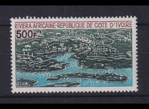 Elfenbeinküste 1971 projektierte Ferienanlage Mi.-Nr. 386 **