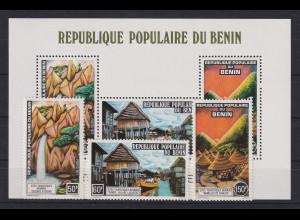 Benin 1977 Tourismus Mi.-Nr. 112-114 und Block 3 **