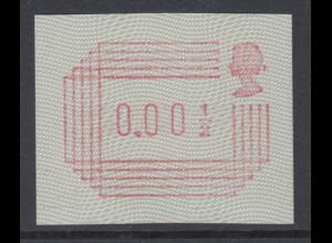 Großbritannien FRAMA-ATM 1.Ausgabe 1984, Kleinwert 0,001/2 , Mi.-Nr. 1 **