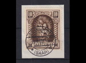 Saar 1934 Madonna von Blieskastel Mi-Nr. 194 O ST. INGBERT auf Briefstück