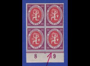 Dt. Reich Nationalversammlung Weimar Mi-Nr. 110 mit PLF 1019 statt 1919 ** im VB