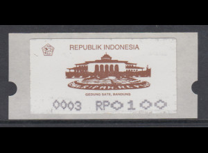 Indonesien ATM 1. Ausgabe 1994, Gedung Sate Bandung, AutNr. 0003, Mi.-Nr. 1.3 **