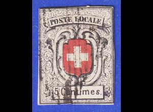 Schweiz Freimarke 5 C sog. Neuenburg Mi.-Nr. 3 gestempelt in guter Erhaltung