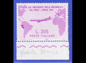 Italien 1961 Präsident Gronchi Südamerikaflug FEHLDRUCK Mi.-Nr. I **