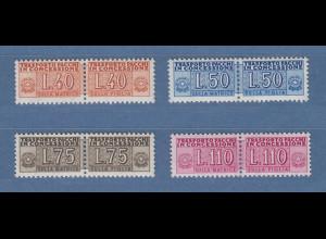 Italien 1955 Paketzustellungsmarken Wz.4 40-50-75-110 Mi.-Nr. 5-8 Satz kpl. **