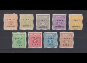 Italien 1943 Alliierte Besetung Sizilien Freimarken Mi.-Nr. 1-9 kpl. Satz **