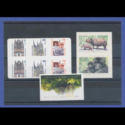 Bundesrepublik alle selbstklebenden Briefmarken des Jahrgangs 2001 komplett **