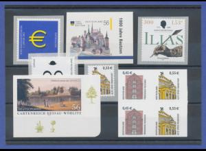 Bundesrepublik alle selbstklebenden Briefmarken des Jahrgangs 2002 komplett **
