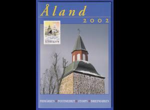 Aaland amtliches Briefmarken-Jahrbuch der Post Jahrgang 2002 kpl. bestückt **