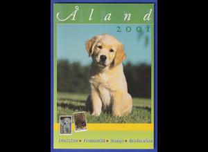 Aaland amtliches Briefmarken-Jahrbuch der Post Jahrgang 2001 kpl. bestückt **