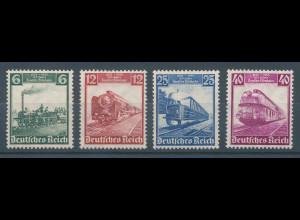 Deutsches Reich 1935, Mi.-Nr. 580-583, Eisenbahnen , Satz kpl. einwandfrei **