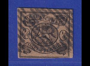 Altdeutschland Braunschweig Mi.-Nr. 4 gestempelt mit Nr.-O 8