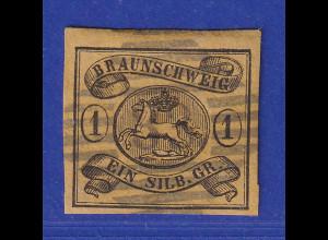 Altdeutschland Braunschweig Mi.-Nr. 6a gestempelt mit Nr.-O 33 Oker