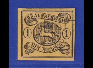 Altdeutschland Braunschweig Mi.-Nr. 6b gestempelt (HOLZMINDEN ?)