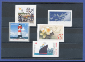Bundesrepublik alle selbstklebenden Briefmarken des Jahrgangs 2004 komplett **