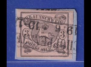Altdeutschland Braunschweig Mi.-Nr. 8a gestempelt in SCHOPPENSTEDT