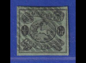 Altdeutschland Braunschweig Mi.-Nr. 10 A gestempelt mit Nr.-O 4 Blankenburg