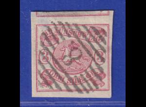 Altdeutschland Braunschweig Mi.-Nr. 12 A gestempelt mit Nr.-O 8 Braunschweig