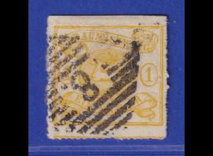 Altdeutschland Braunschweig Mi.-Nr. 14 A gestempelt mit Nr.-O 8 Braunschweig