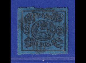Altdeutschland Braunschweig Mi.-Nr. 15 A gestempelt mit Nummern-Stempel