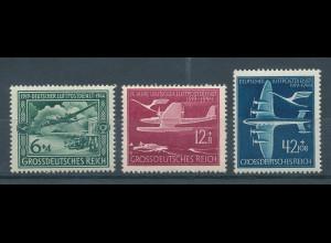 Deutsches Reich 1944, Luftpost - Flugzeuge, Mi.-Nr. 866-868 Satz **
