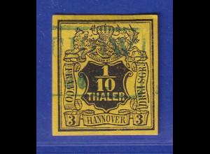 Altdeutschland Hannover 1/10 Th. schwarz auf gelb Mi.-Nr. 5 gestempelt