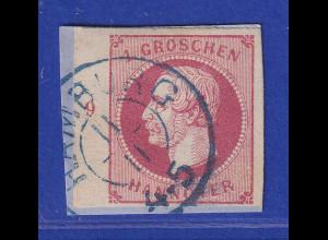 Altdeutschland Hannover Georg V. 1Gr. linkes Randstück mit Reihenzahl 9 gest.