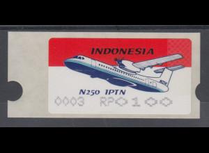 Indonesien ATM INDONESIA`96 Flugzeug IPTN N 250, AutNr. 0003, Mi.-Nr. 2.3 **
