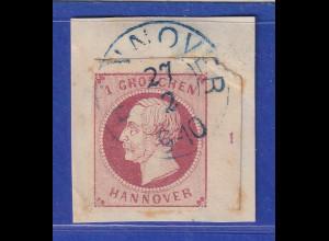 Altdeutschland Hannover Georg V. 1Gr. rechtes Randstück mit Reihenzahl 1 gest.