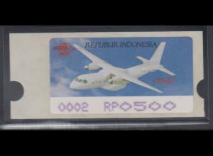Indonesien ATM Indonesia Air Show 1996, Flugzeug CN235, violett, Mi.-Nr. 3.2 f
