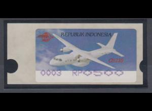 Indonesien ATM Indonesia Air Show 1996, Flugzeug CN235, violett, Mi.-Nr. 3.3 f