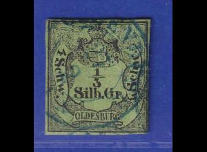 Altdeutschland Oldenburg 1/3 Sgr Mi.-Nr. 1 gestempelt