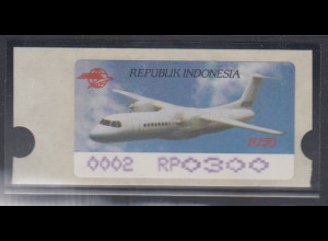 Indonesien ATM Indonesia Air Show 1996, Flugzeug N250, violett, Mi.-Nr. 4.2 f