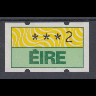 Irland Klüssendorf-ATM 1.Ausgabe 1990, Mi.-Nr. 2 **
