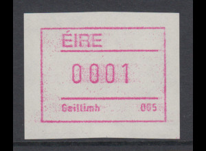 Irland Frama-ATM 2.Ausgabe 1992, Besonderheit weisses Papier, Mi.-Nr. 4 **