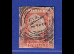 Altdeutschland Preussen Wilhelm IV. 1/2 Sgr. / 6Pf. rotorange Mi.-Nr. 1 gest.