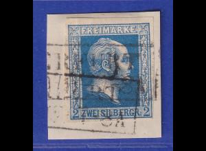 Altdeutschland Preussen Wilhelm IV. 2 Sgr. Mi.-Nr. 7 gestempelt auf Briefstück