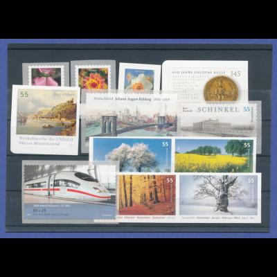 Bundesrepublik alle selbstklebenden Briefmarken des Jahrgangs 2006 komplett **