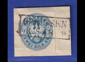 Altdeutschland Preussen Adler 2 Sgr. Mi.-Nr. 17b gestempelt GREUSSEN