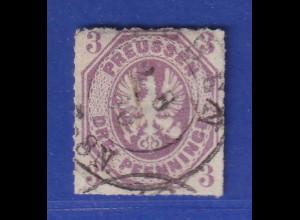 Altdeutschland Preussen Adler 3 Pfennige Mi.-Nr. 19a gestempelt