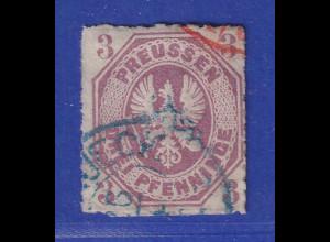 Altdeutschland Preussen Adler 3 Pfennige Mi.-Nr. 19a gest.
