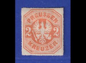 Altdeutschland Preussen Adler 2 Kreuzer Mi.-Nr. 23 ungebraucht *