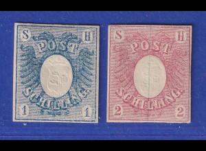 Altdeutschland Schleswig-Holstein, Postschillinge Mi-Nr. 1 und 2 kpl. sauber *