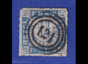 Altdeutschland Schleswig-Holstein, Mi.-Nr. 7 sauber mit Ring-Nr.-O 121
