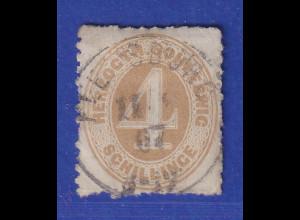 Altdeutschland Schleswig-Holstein, 4 Schilling ocker, Mi.-Nr. 17 gestempelt