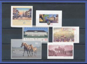 Bundesrepublik alle selbstklebenden Briefmarken des Jahrgangs 2007 komplett **