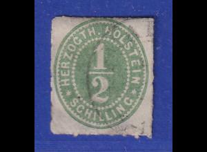 Altdeutschland Schleswig-Holstein, 1/2 Schilling grünoliv, Mi.-Nr. 18 gest.