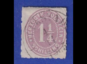 Altdeutschland Schleswig-Holstein, 1 1/4 Schilling purpur, Mi.-Nr. 20 gest.