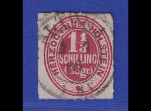Altdeutschland Schleswig-Holstein 1 1/3 Schilling rotkarmin, Mi.-Nr. 23 O ALTONA