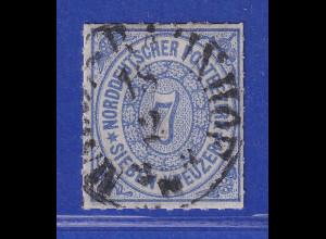Norddeutscher Bund 7 Kreuzer blau Mi.-Nr. 10 gestempelt